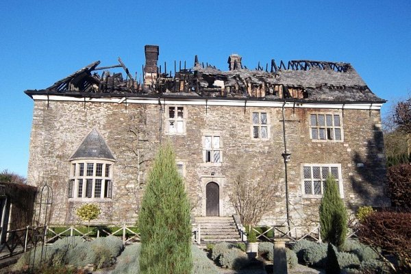 Fire Damaged Manor House