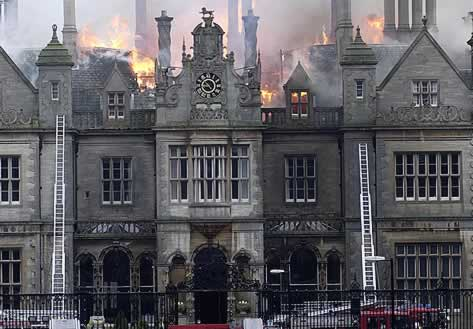 Stoke Rochford - During the disaster