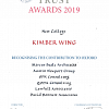 NEW COLLEGE - KIMBER WING AWARD!